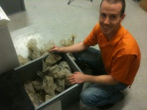 James Bevignton and Soil Samples